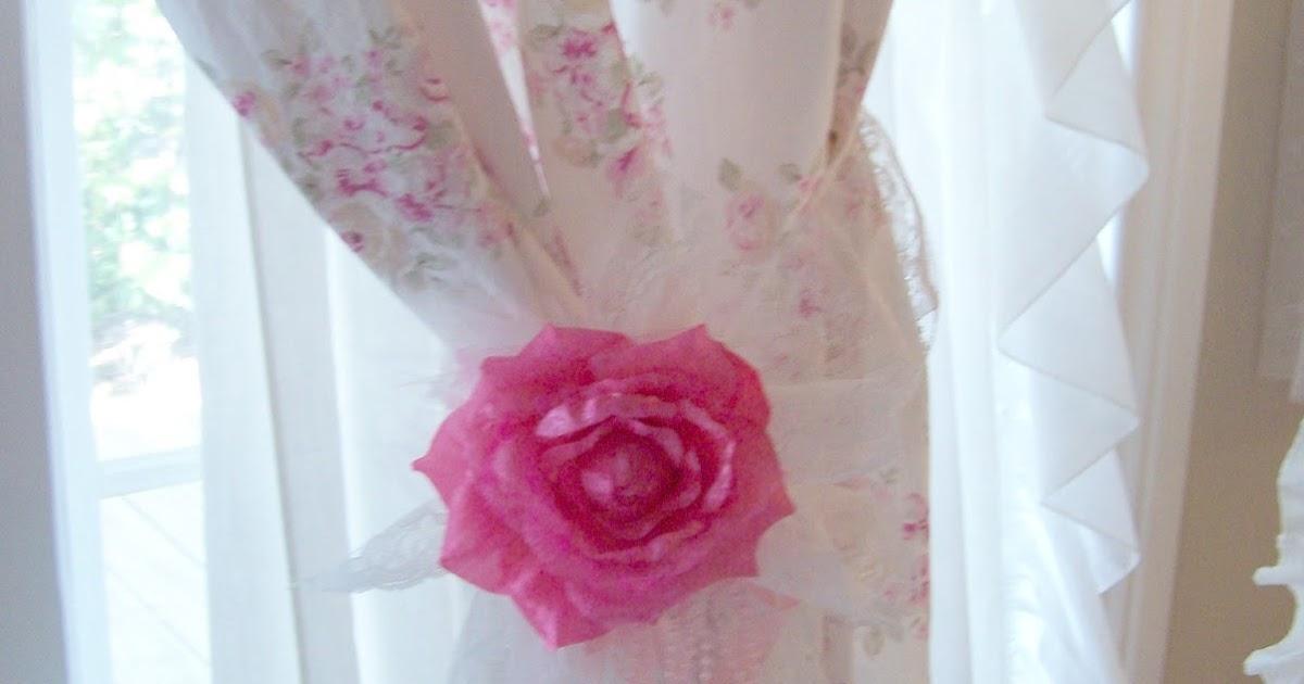Olivia s romantic home shabby chic living room - Olivia S Romantic Home Shabby Chic Rose Curtains