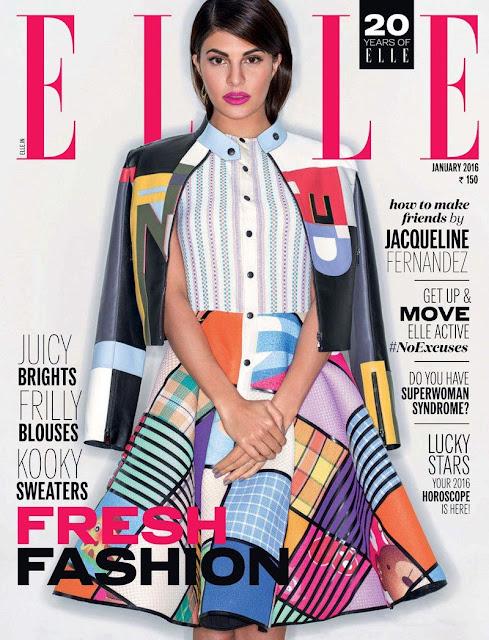 Actress, @ Jacqueline Fernandez - Elle India, January 2016
