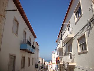 Nazare narrow street photo