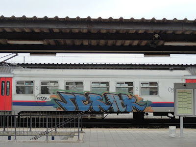Action painting bringing art to the trains