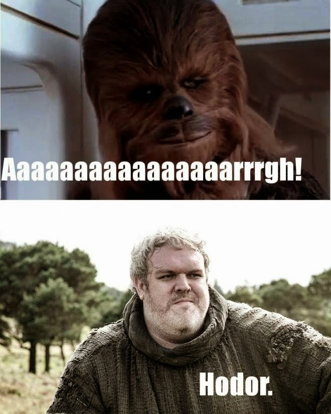 #GameOfThrones Chewbacca VS Hodor Meme