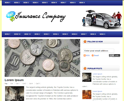 Insurance Company Blogger Theme