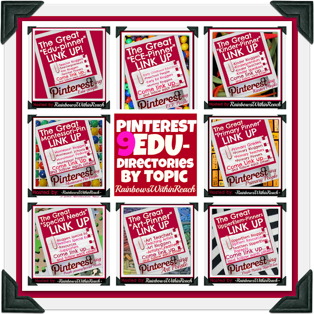 photo of: Pinterest Directories for Educators by Topic with RainbowsWithinReach