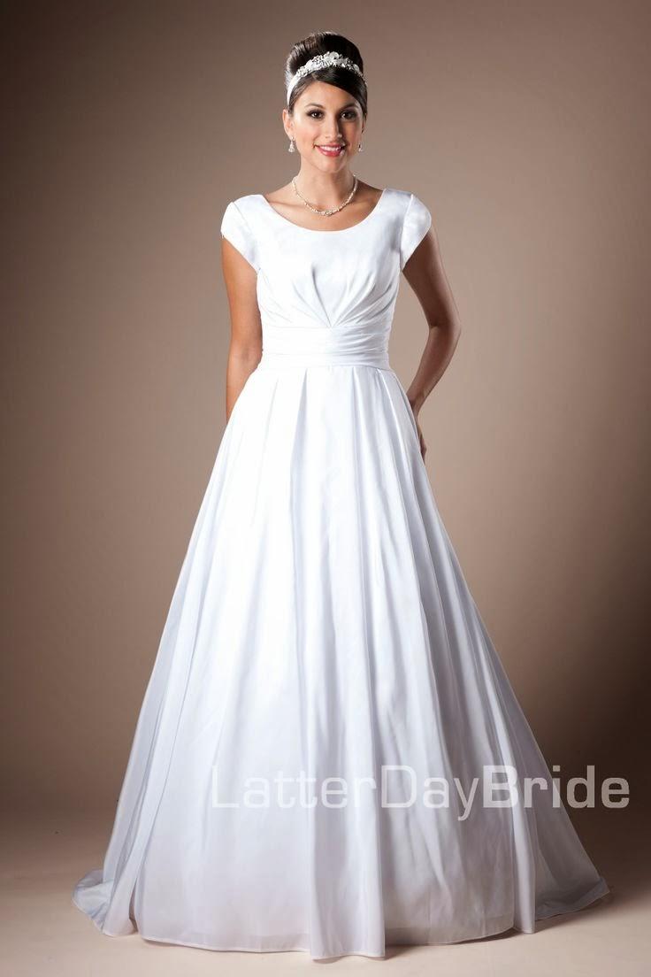 Modest wedding dresses latter day allure david for Latter day bride wedding dresses