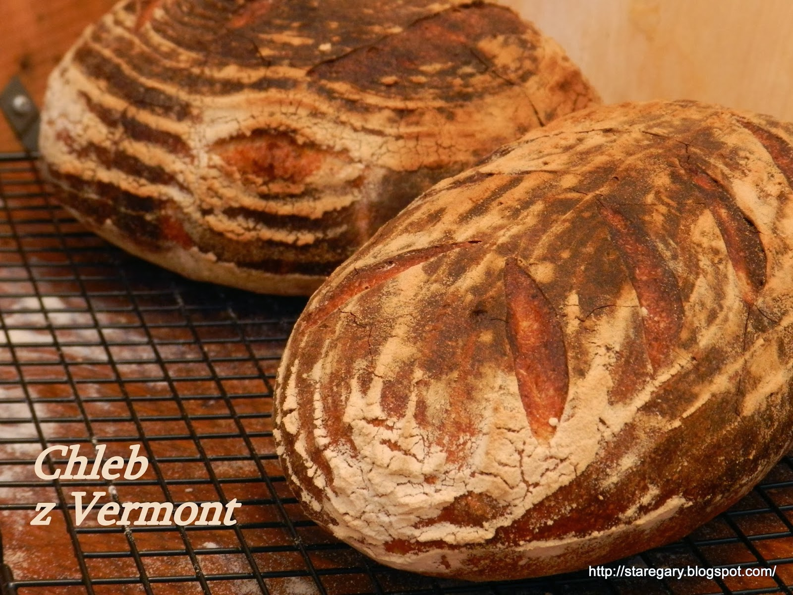Chleb pszenny z Vermont na zakwasie Hamelman'a