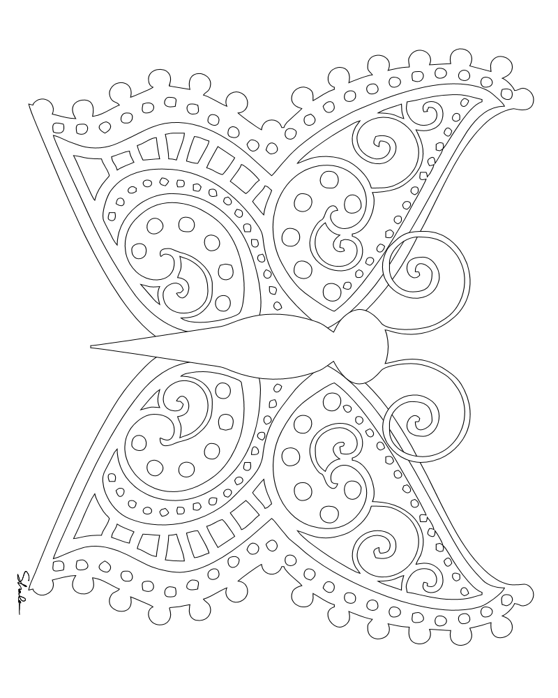 coloring pages detailed butterfly - photo#12