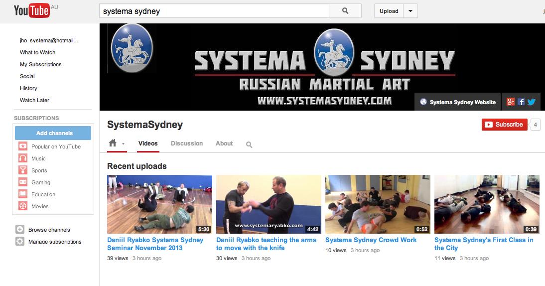 Justin 39 s systema blog footage from daniil ryabko sydney for Miroi log in