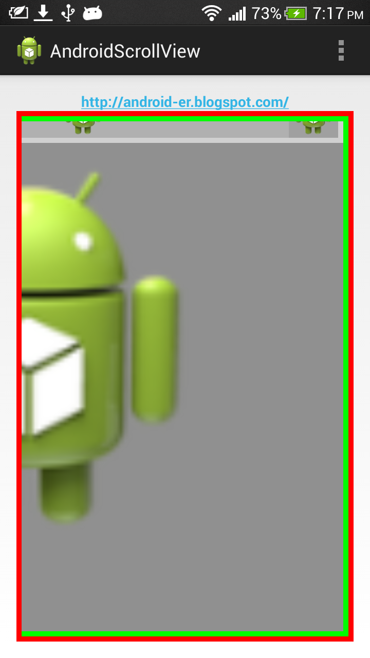 Android er horizontal vertical scrollable view - Er finestra android ...