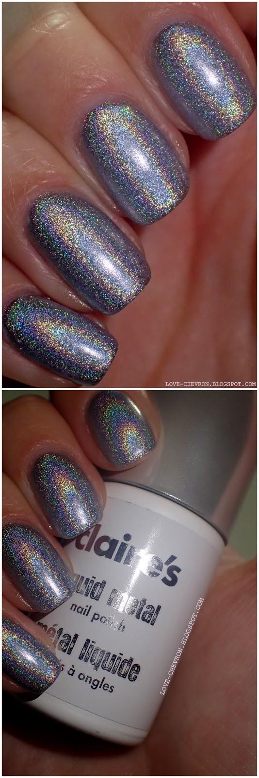 silver liquid metal nail polish