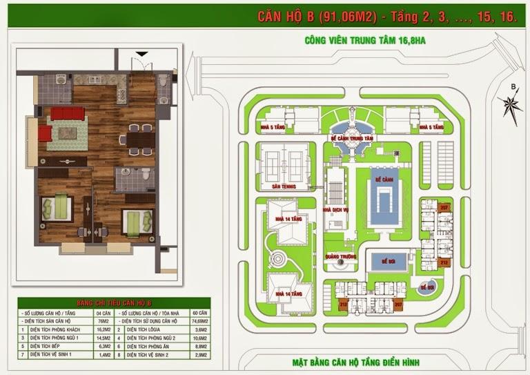 Bán chung cư Green House diện tích 74,69m2
