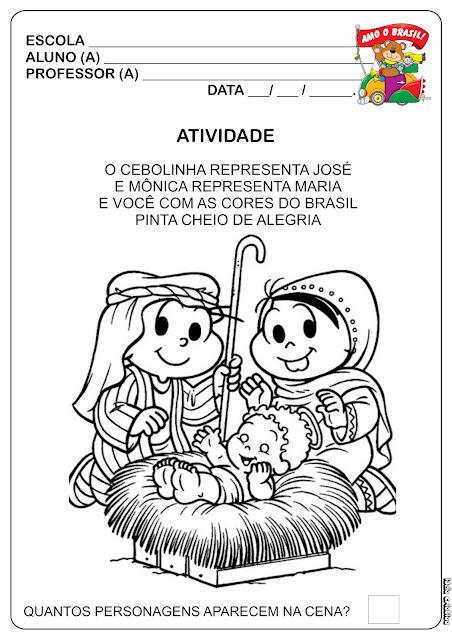 Atividade Natal Cristão Educação Infantil