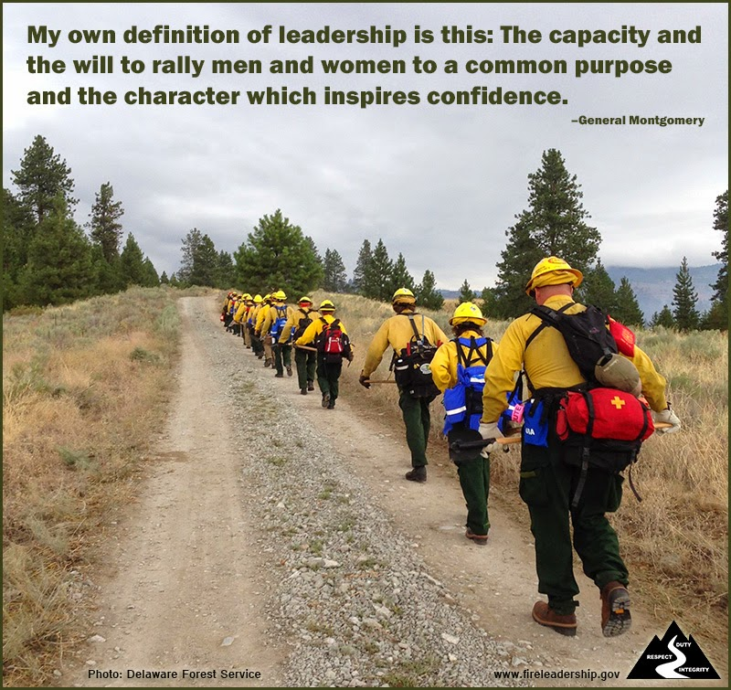 """My own definition of leadership is this: The capacity and the will to rally men and women to a common purpose and the character which inspires confidence."" ~ General Montgomery"