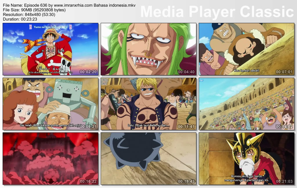 Download Film One Piece Episode 636 (Super Rookie! Bartolomeo Sang Kanibal) Bahasa Indonesia
