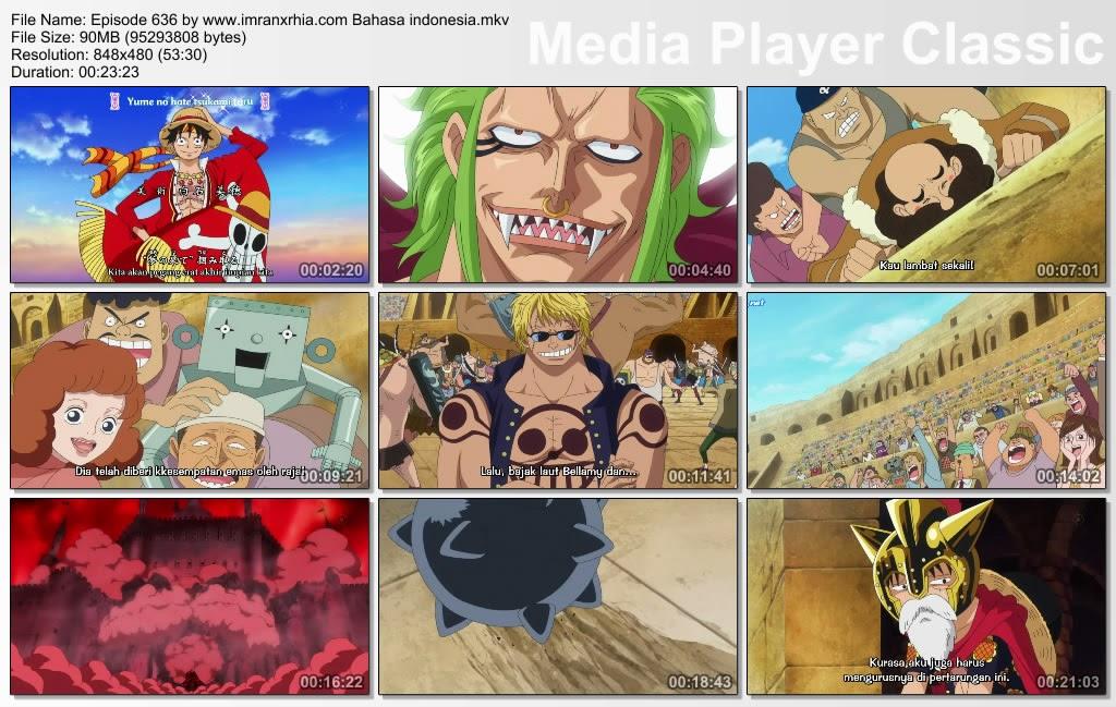 Download Film One Piece Episode 636 (Super Rookie! Bartolomeo Sang Kanibal) Bahasa Indonesia