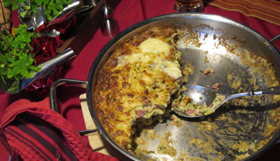 Ham and Mushroom Pasta Bake
