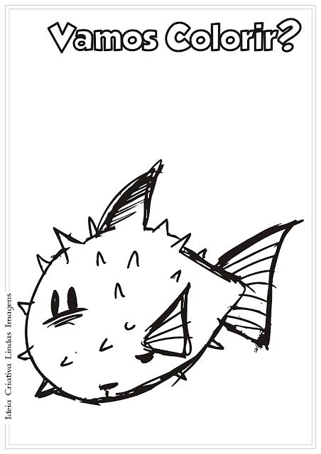 Peixe desenho para colorir