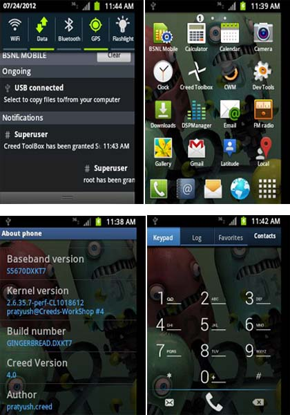 Creed's Rom v4.0 for Samsung Galaxy Fit GT-S5670 Released