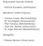 Miembros de la Sección Sindical