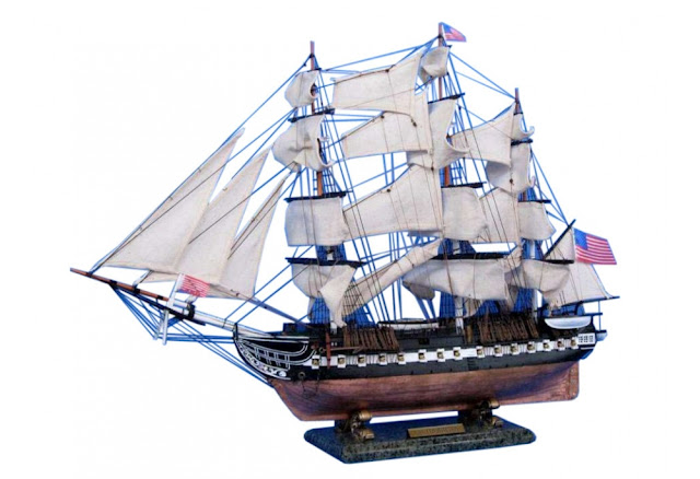 USS Constitution Wooden Ship Model