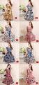 New 2016 8-Design Plus Size Floral Print Flare Dress