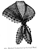 Shetland Wool Neckerchief Knitting Pattern