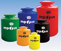Tangki air MPOIN warna warni