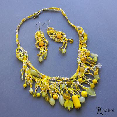 купить украшения в стиле бохо желтый ручной работы