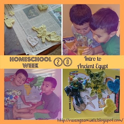 Homeschool Week 20: Intro to Ancient Egypt