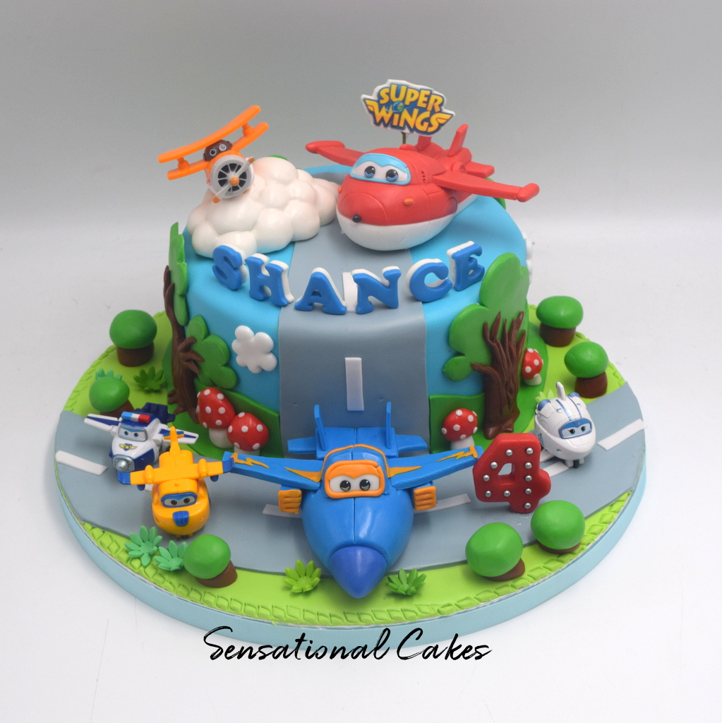 The Sensational Cakes: Super Wings plane children birthday 3d design ...