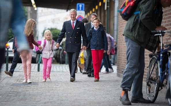 Crown Princess Elisabeth, Princess Eleonore and Prince Gabriel of Belgium