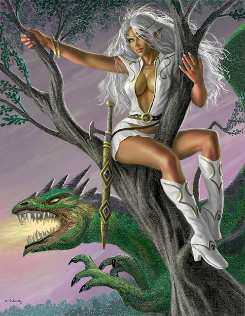 Green Dragon Pirotess por stardriv