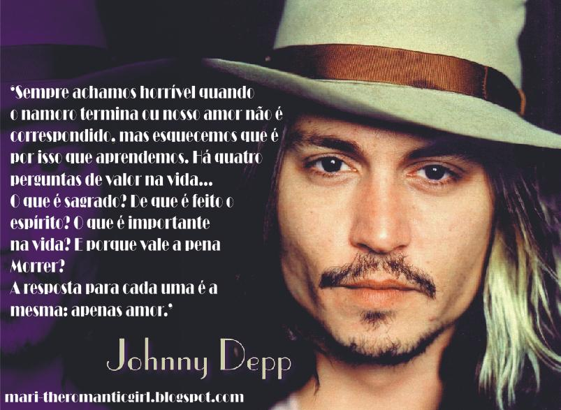 Love Stories Frases De Famosos Johnny Deep