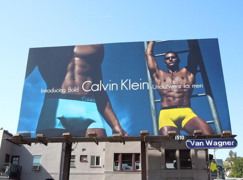 Calvin Klein Bold underwear Matthew Terry billboard