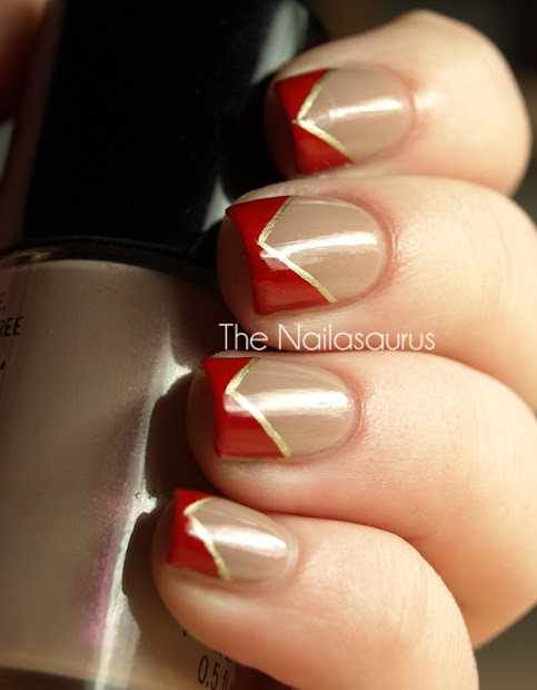 lana del rey inspired nail art