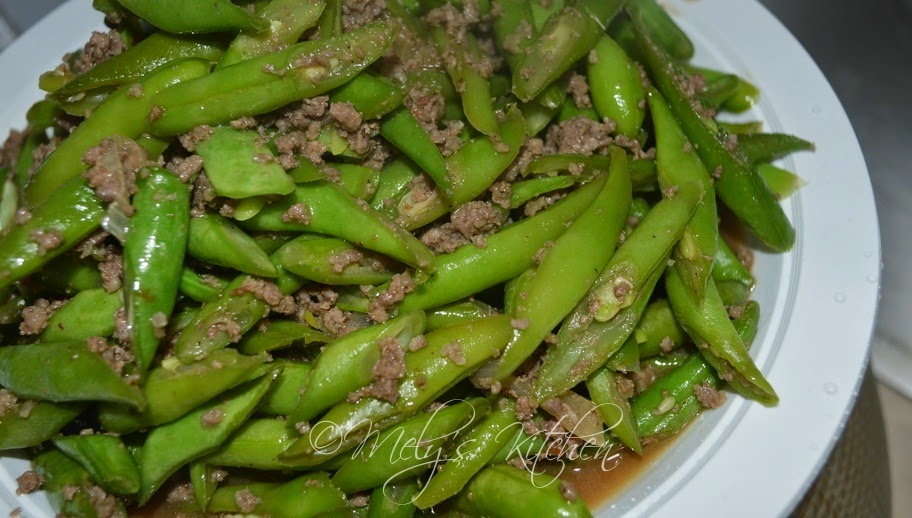 Stir Fried Ground Beef and Green Beans - Mely's kitchen