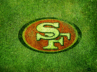 Sf 49ers Logo on Grass HD Wallpaper