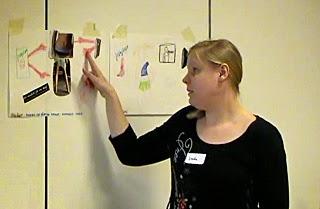 Linda Åkesson på fokusgruppen möte i Nässjö