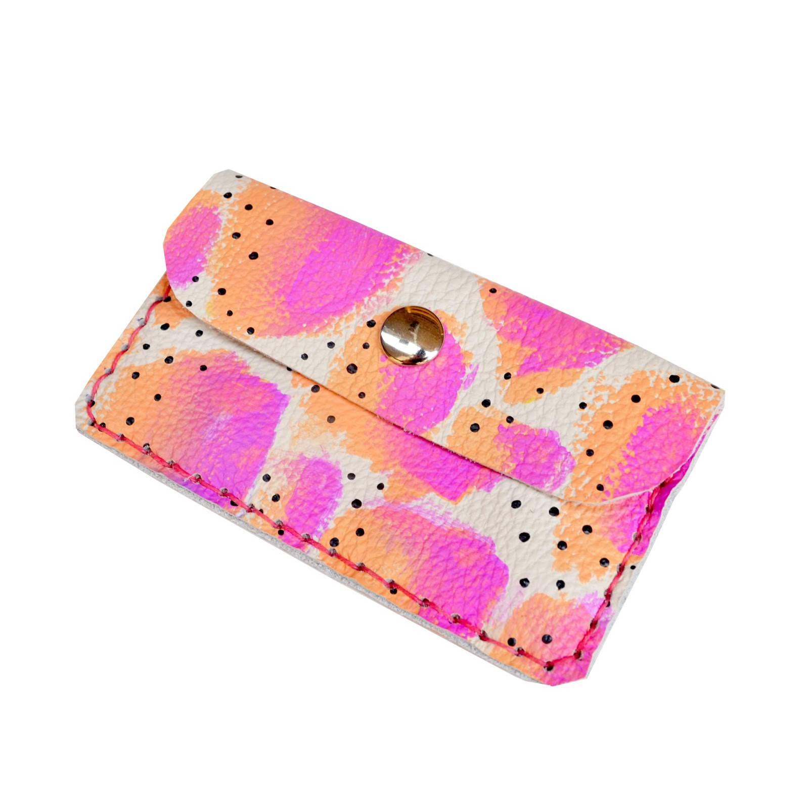 Boo and Boo Factory New Handmade Colorful Painted Leather Wallets