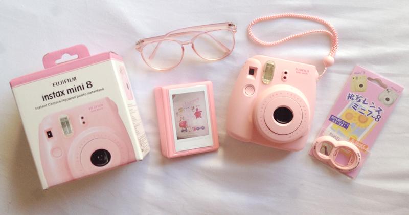 april fool romance pink instax mini 8 polaroid camera review. Black Bedroom Furniture Sets. Home Design Ideas