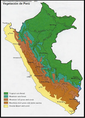 Mapa de la Vegetacion de Peru