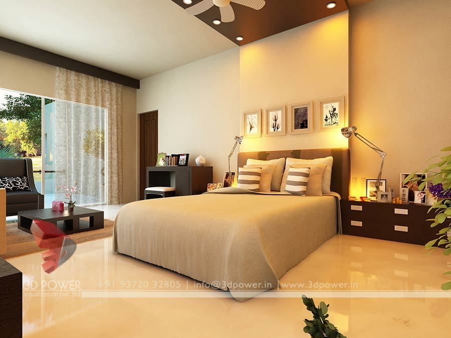 Architectural 3D Bedroom Designs Rendering