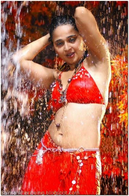 Anushka shetty hot navel show in bikini
