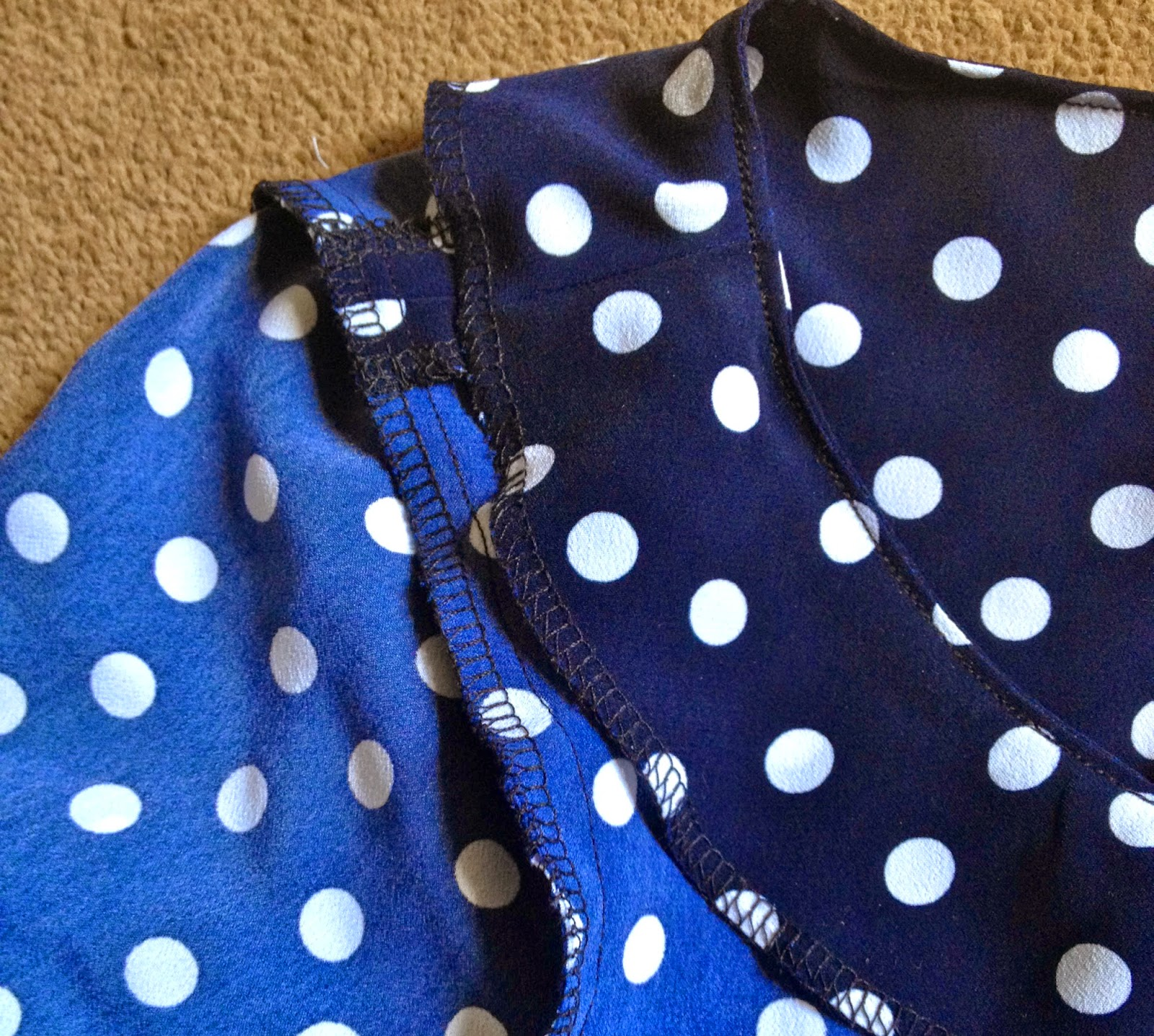 Diary of a Chainstitcher: Polka Dot Laurel Blouse from Colette Patterns