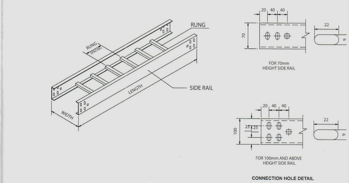 oil and gas electrical and instrumentation engineering  cable tray ladder type