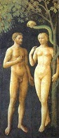 The Temptation of Adam and Eve, Masolino, Brancacci Chapel, 1425.