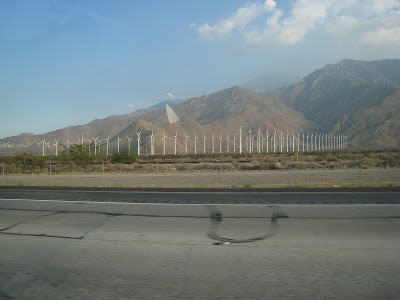 Wind Turbines near I-10E California