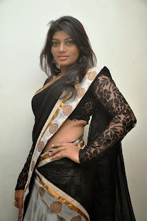 Actress Sowmya Latest  Pictures in Saree at Rowdy Fellow Audio Launch 014.jpg