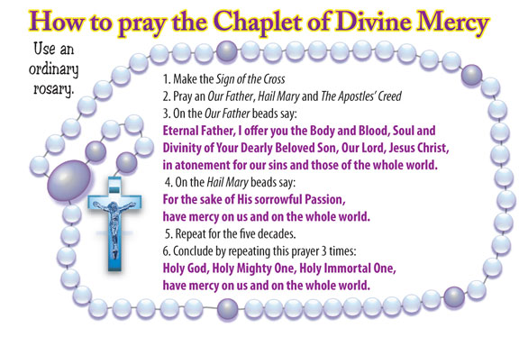 Impertinent image inside divine mercy chaplet printable