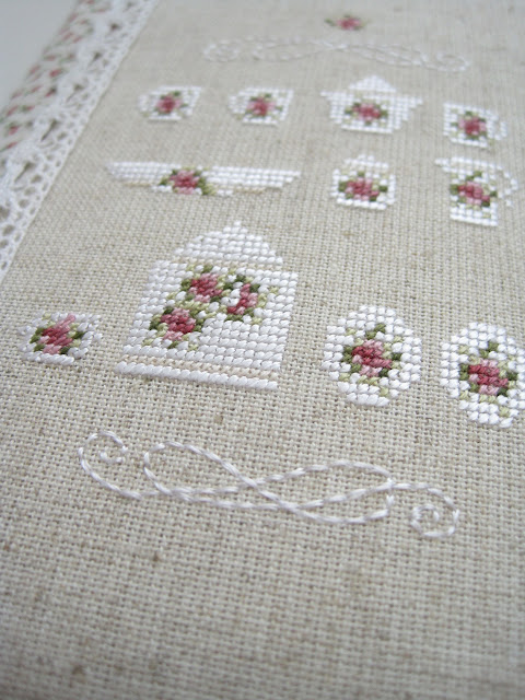 cross stitch вышивка rosengarten