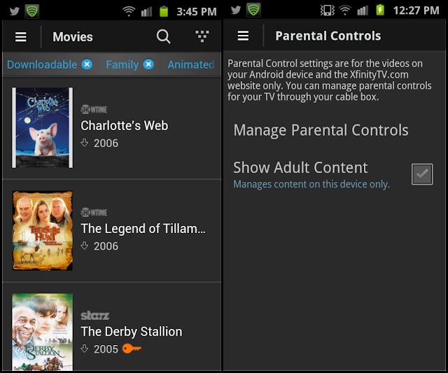 Xfinity TV app